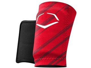 EvoShield MlB Protective Speed Stripe Wrist Guard  Red  large