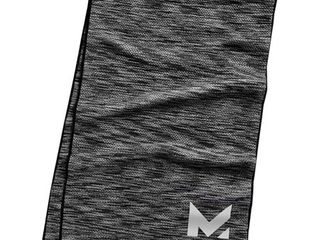 Mission HydroActive Premium Techknit large Towel   Charcoal Gray Spacedye