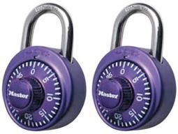 Master lock 1530T Combination Padlock  Bright Metallic  2 Pack