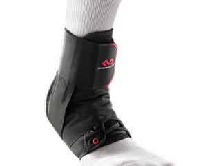 McDavid 195 Deluxe Ankle Brace with Strap  Black  Small