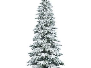 6 5ft Flocked Utica Fir Artificial Tree   Vickerman