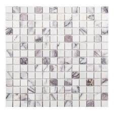 Gray lilac 1  x 1  Natural Stone Mosaic Subway Tile  10 sheets Retail   7 99