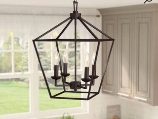 Carmen 4   light lantern Geometric Pendant Rubbed Oil RETAIl  169