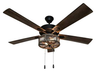 River of Goods 52  Shabby Bronzed Farmhouse lED Ceiling Fan with light  Retail   219 99