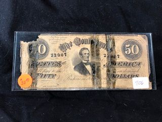 1861  50 Confederate Bill  x1
