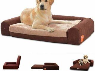 HOPEDIC lARGE FOlDABlE FOAM PET DOG SOFA