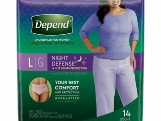 DEPEND UNDERWEAR FOR WOMEN  14 PIECES  4 PACK