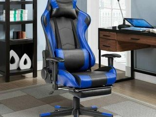 REClINING GAMING OFFICE CHAIR  BlUE
