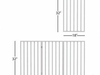 PETMAKER WOODEN PET GATE  WHITE