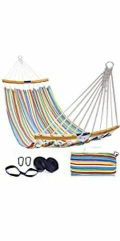 OHUHU DOUBlE HAMMOCK QUIlTED FABRIC SWING