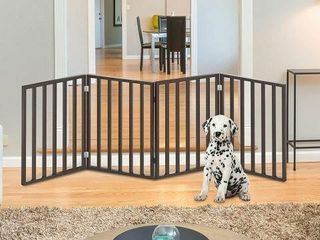 WOODEN PETGATE FOlDABlE 4 PANEl INDOOR