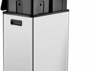 DUAl COMPARTMENT STEP TRASH CAN