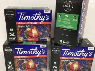 96 KEURIG K CUP PODS TIMOTHY S MEDIUM ROAST