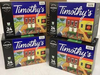 48 KEURIG K CUP PODS TIMOTHY S MEDIUM ROAST