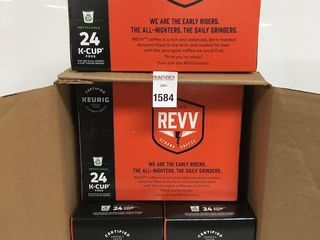 96 KEURIG PODS REVV STRONG COFFEE BEST BEFORE