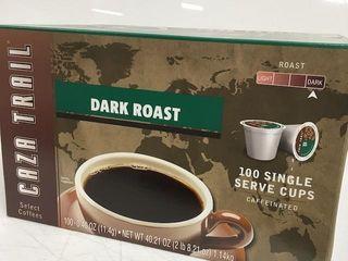 100 PODS CAFFEINATED CAZA TRAIl DARK ROAST