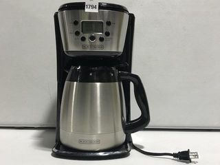 BlACK AND DECKER 12 CUP THERMAl PROGRAMMABlE
