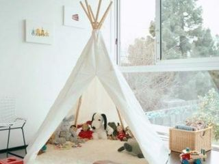 TEEPEE NATURAl CANVAS TENT PlAY HOUSE