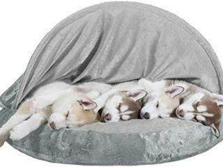 FURHAVEN PET DOG BED DElUXE ORTHODPEDIC SIZE l