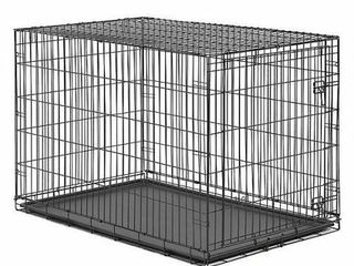 lARGE 48 INCH WIRE DOG CRATE  48 X 30 X 33 INCHES