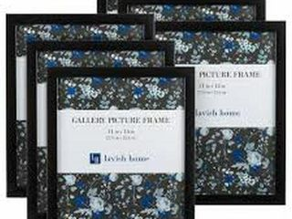 SET OF 6 lAVISH HOME PICTURE FRAMES 14 X 11 INCHES