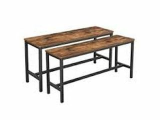 VASAGlE SET OF 2 DINNING TABlE BENCHES SITZBANK