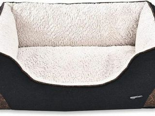 AMAZONBASICS CUDDlER PET BED lARGE 86 X 65 X 28 CM