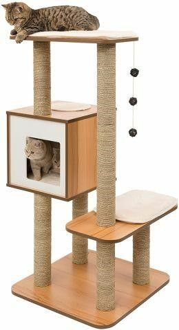 VESPER CAT TREE SCRATCHING POST WITH CONDO