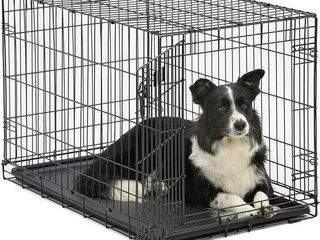 DOG CRATE MIDWEST 36  FOlDING METAl DOG CRATE