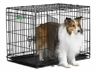 MIDWEST DOUBlE DOOR DOG CRATE 30X19X21