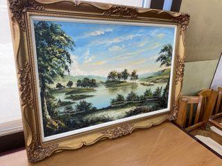 Framed landscape Canvas Print