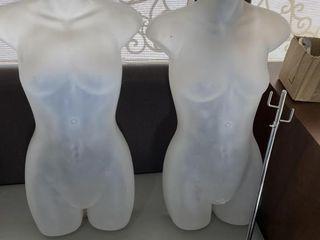 Pair of Hanging Female Torso Mannequins