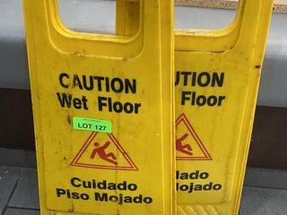 Pair of Wet Floor Signs