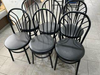 Hoop Back Black Metal Cafe Chair