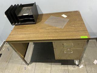 40  x 24  Metal Salesman Desk