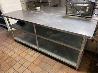 7  x 2  S S Work Table w  Dbl Undershelf