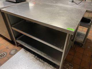 4  x 30  Custom S S Welded Table w  Dbl