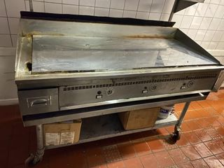Keating Miraclean 60  Gas Griddle On Porta Stand