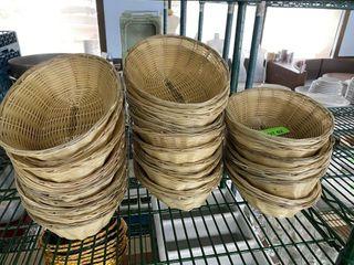 lOT  9  Oval Food Baskets