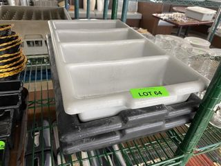 4 Compartment Cutlery Bin x 3