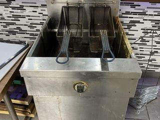 MKE 65 lb  Floor Model Gas Deep Fryer