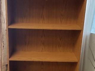 Particle Board 5 Shelf Bookcase   Adjustable Shelves   28 5 x 9 5 x 68 in  tall