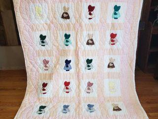 Sue Bonnet Quilt   84 in  x 64 in
