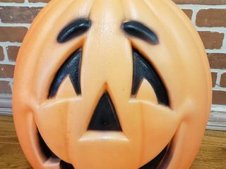 Jack o lantern Blow Mold   24 in  tall   worked then fuse burned out