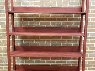 Vintage 4 Shelf Bookcase   48 x 16 x 68 5 in  tall   9 in  deep shelves