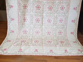 Cross Stitch Quilt  96 in  x 94 in   King  Extra Cross Stitch Runner