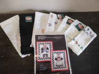 Hand Towels for Cross Stitch and Mr  and Mrs  Piggy Kit