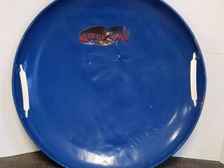 Steel Flexible Flyer Disc Snow Shed w plastic handles   25 5 in  diameter