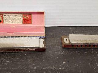 2 M  Horner Harmonicas   Both made in Germany  ECHO  has box    MARINE BAND