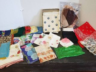 Handkerchiefs and Silk Scraves   great shape
